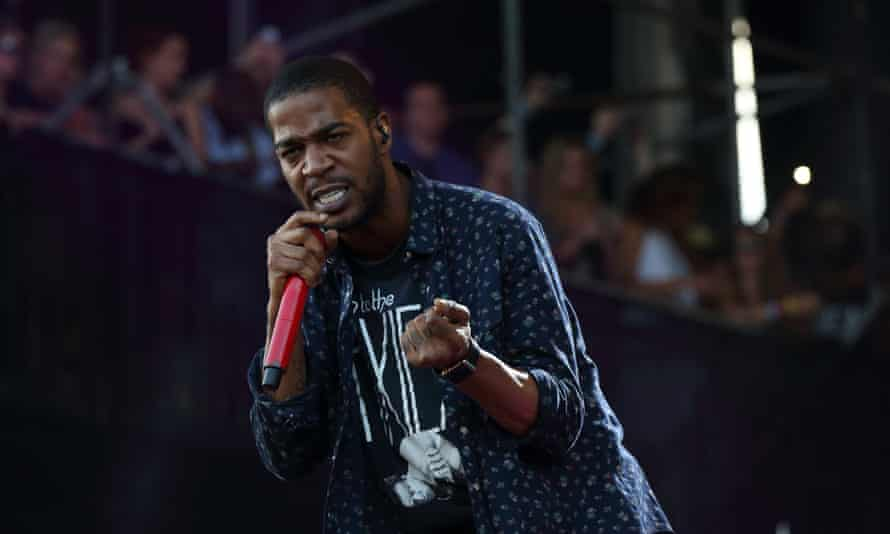 Kid Cudi performing at Lollapalooza music festival in Chicago.