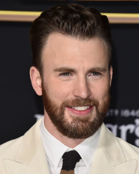 Seeing the funny side … Chris Evans