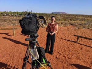 Rachel Hocking reporting for NITV at Uluru, Australia.