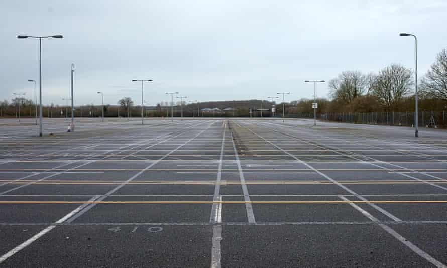 Plenty of space: one of the car parks at Stansted airport.