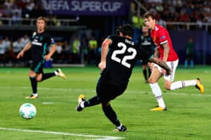 Isco slots in the second.