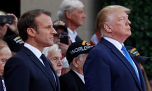 Trump and Macron attend a commemoration ceremony for the 75th anniversary of D-Day at the American cemetery of Colleville-sur-Mer in Normandy