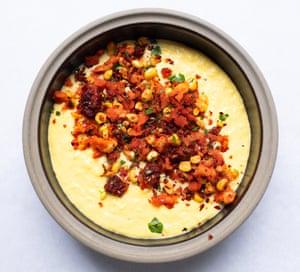 The golden bowl: sweetcorn chowder.