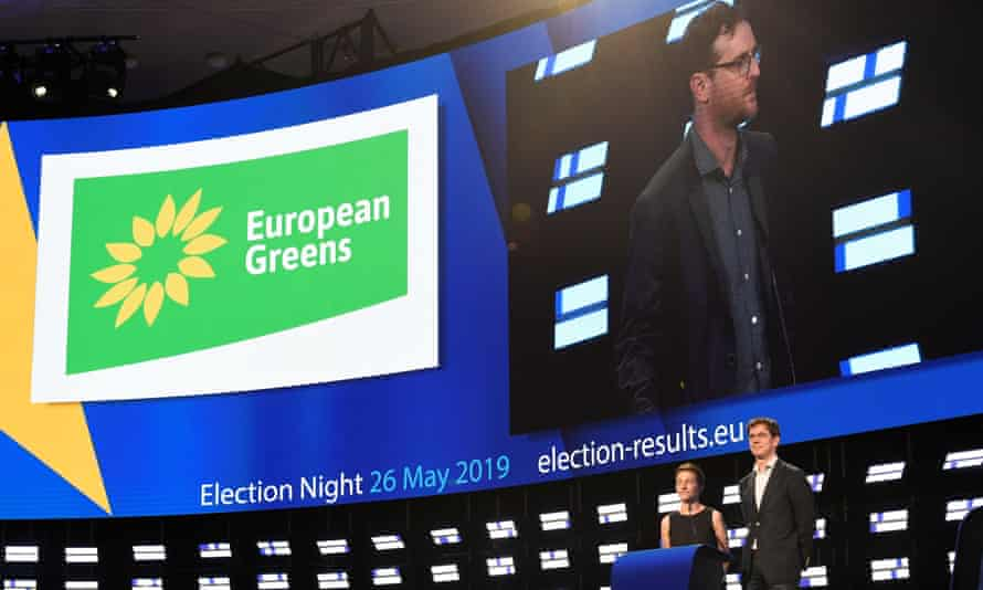 European Green party candidates Ska Keller and Bas Eickhout in Brussels, May 2019