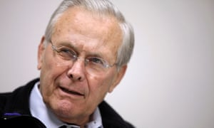 Former defense secretary Donald Rumsfeld has dismissed comments by George HW Bush that he was an 'arrogant fellow'.