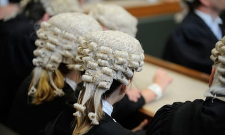 Members of the bar wearing barristers' wigs