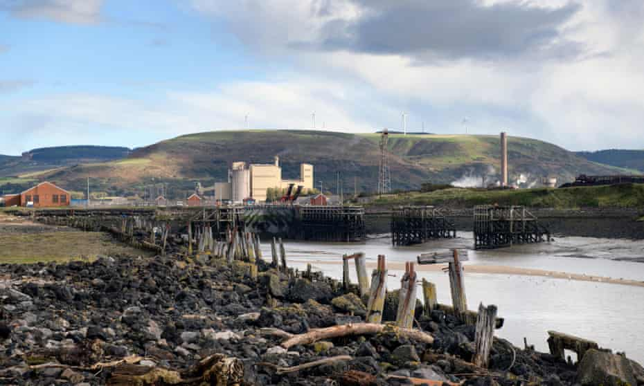 The River Afan at Port Talbot, south Wales