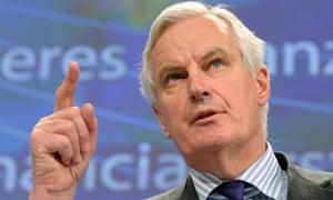Michel Barnier at the European commission in Belgium.
