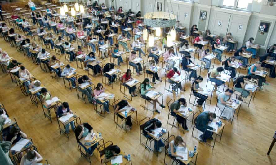 Pupils at King Edward VI school in Handsworth in  doing a GCSE examination