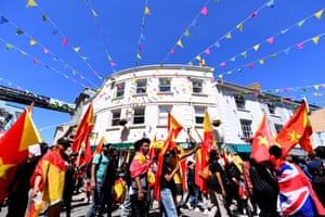 A protest in Falmouth calling for G7 leaders to step in to help stop the war and famine in the Tigray region of Ethiopia.