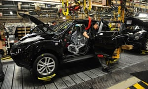 Workers building the Qashqai at the Nissan factory in Sunderland.