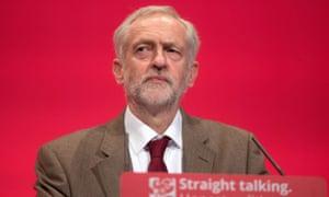 Jeremy Corbyn at 2015 Labour conference