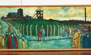 The painting of Murton miners, at the TUC's office.