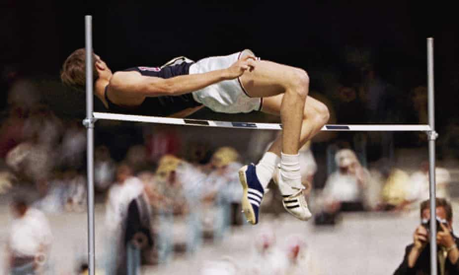 Dick Fosbury leaps to glory in the 1968 Olympics.