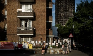 Tributes left for the victims of the Grenfell Tower fire.