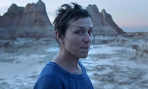 In tune with this year's ruminative zeitgeist ... Frances McDormand in Nomadland.