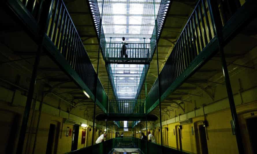 Prime prison property ... inmates in Pentonville in north London.