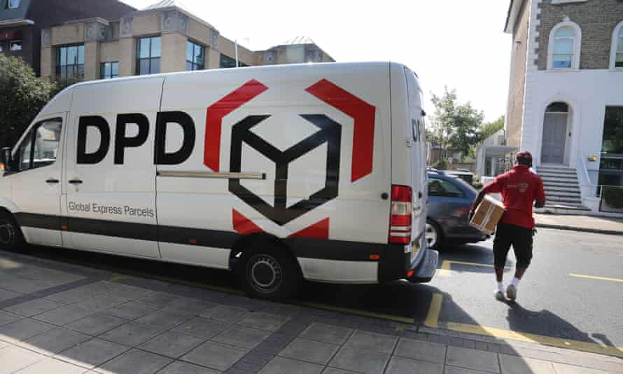 A DPD worker makes a delivery in Wimbledon, London … but sickness is not a good idea when you're on a zero-hours contract.