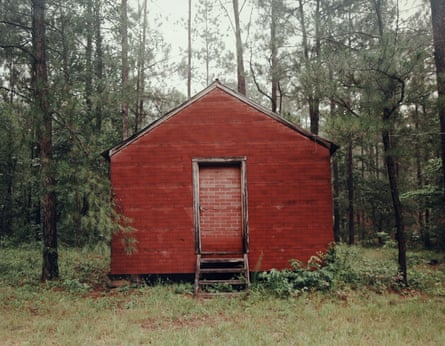 Red Building in Forest, Hale County, Alabama, 1983 by William Christenberry