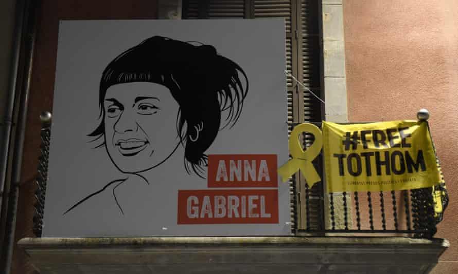 Placard of Anna Gabriel