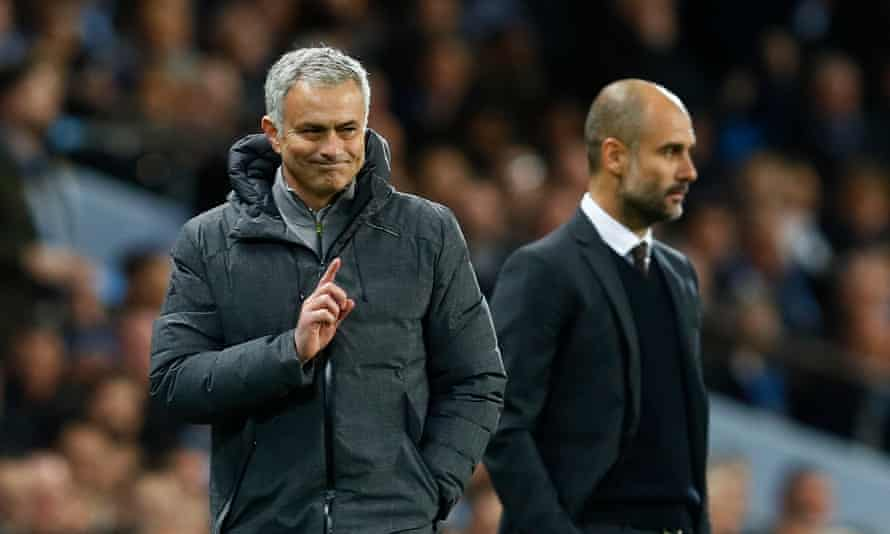 José Mourinho has claimed that Pep Guardiola's Manchester City players 'lose their balance very easily'.