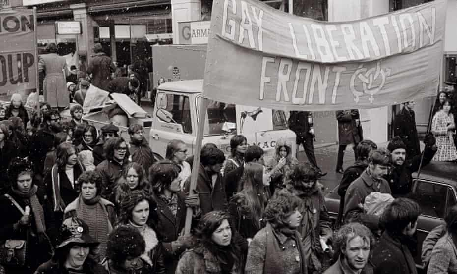 Liberation Front banner on Women's march, 6 March 1971.