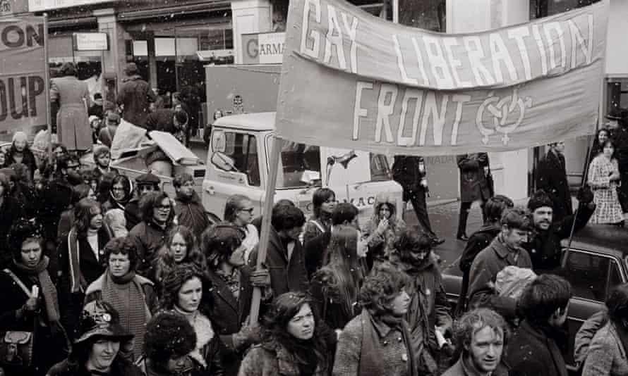 A GLF banner at a women's march, 1971