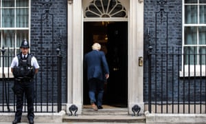 Boris Johnson arrives at 10 Downing Street in 2017 during his period as foreign secretary.