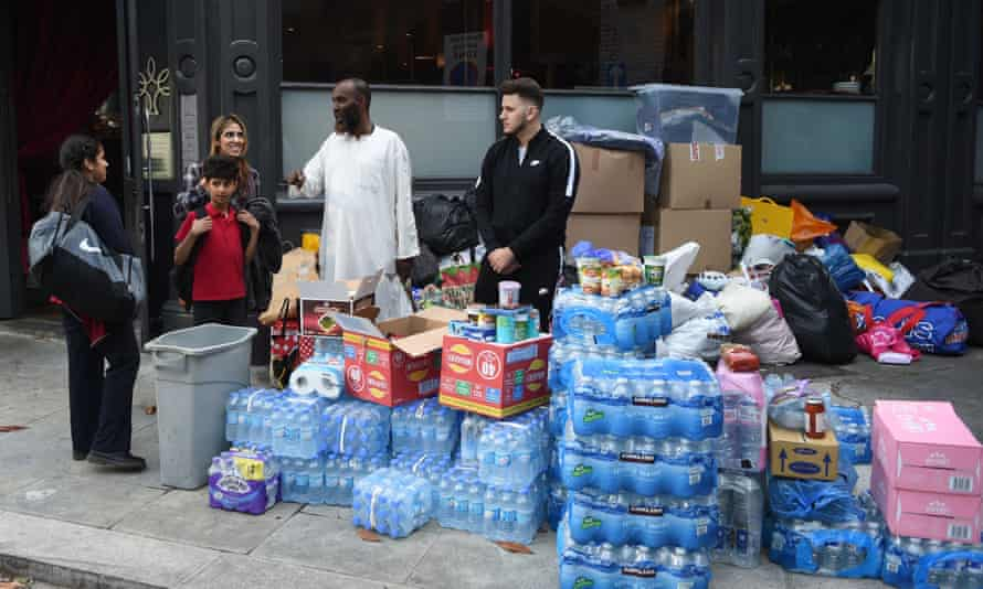 Goods donated after the fire