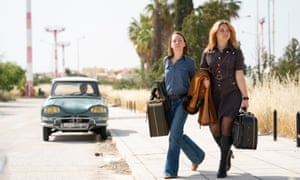 Katharina Schuttler and Florence Pugh in The Little Drummer Girl