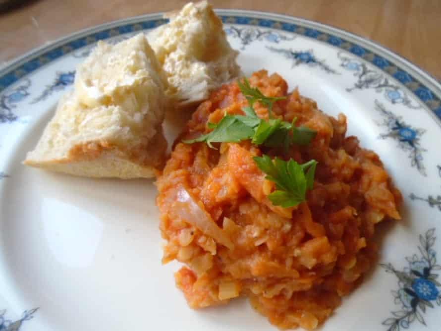 Caroline Barden's lentil stew.
