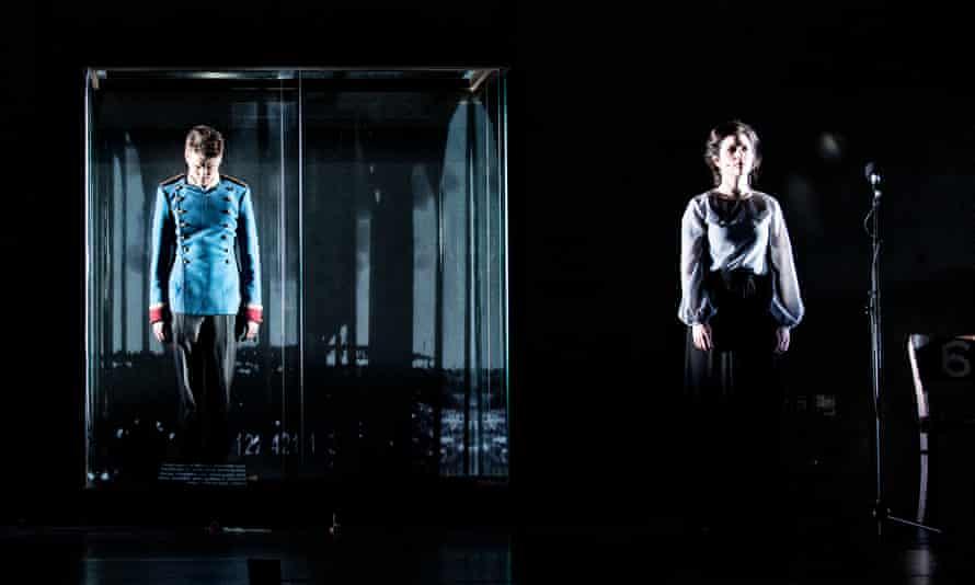 Laurenz Laufenberg, left, and Eva Meckbach in Simon McBurney's production Beware of Pity.