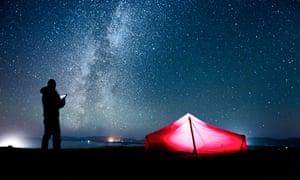 Stargazing in Argyll, United Kingdom.