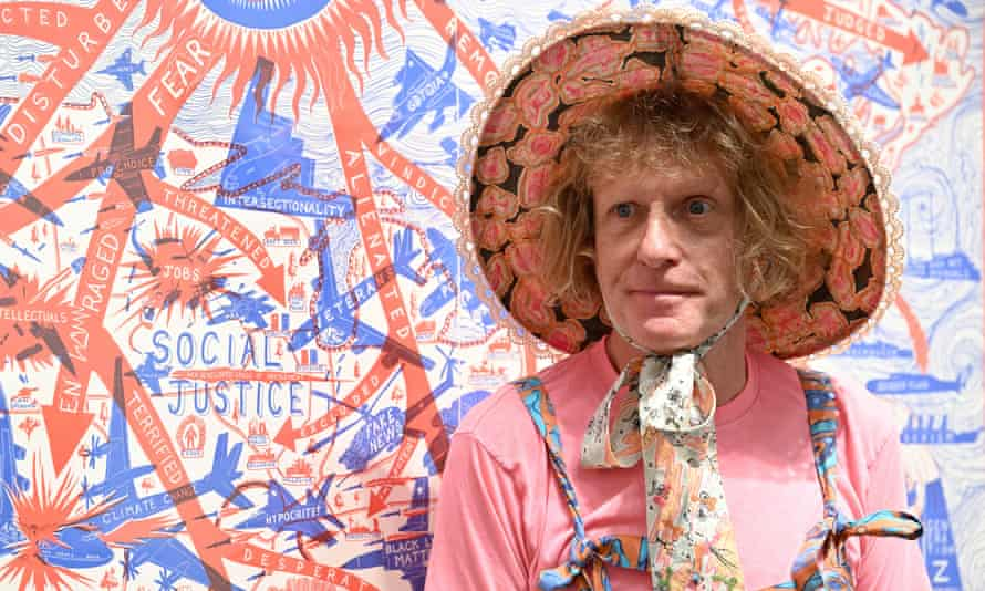 Grayson Perry at a photocall for his show, The Most Specialest Relationship, at Victoria Miro, London, September.
