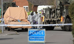 Forensic teams remove a recovery truck used after the Salisbury nerve agent attack.