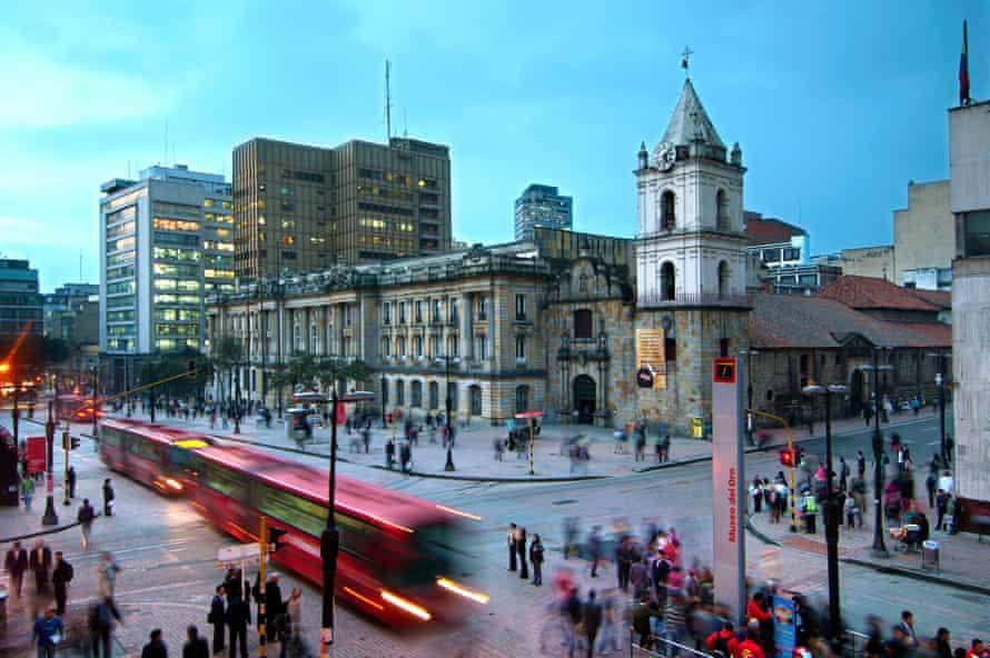Transit line in Bogota