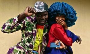 Fresh ideas … Africa Express stars Otim Alpha and Moonchild Sanelly.