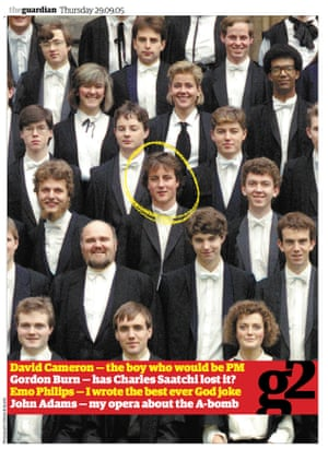 How G2 saw David Cameron a few weeks before he would become leader of the Conservative party.