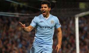 Sergio Agüero scored twice on his Manchester City debut in 2011 and he's been banging them in ever since.