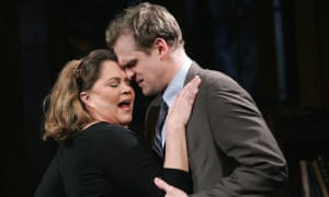 Kathleen Turner as Martha and David Harbour as Nick in Who's Afraid of Virginia Woolf? at the Apollo, London, in 2006.