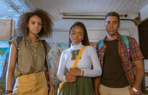 From left, Celeste O'Connor, Lovie Simone and Jharrel Jerome star in Selah and the Spades.
