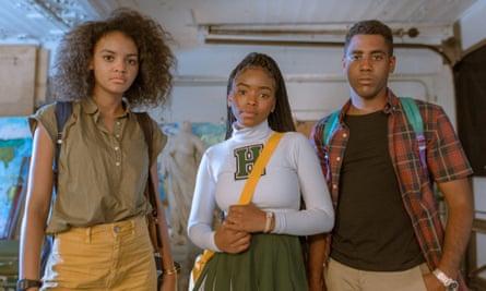Celeste O'Connor, Lovie Simone and Jharrel Jerome in Selah and the Spades