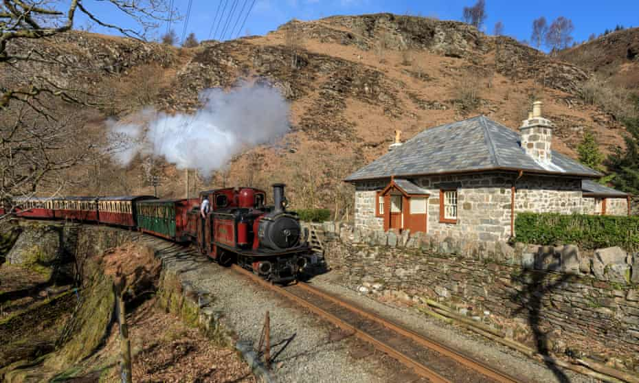 The Ffestiniog railway Wales stops at the Landmark Trust's new cottage