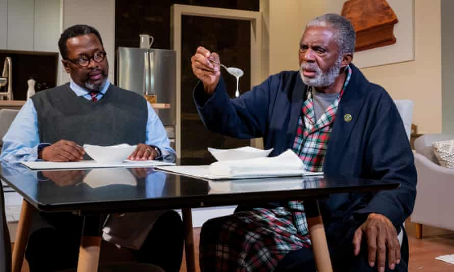 Testy dynamic ... Wendell Pierce (left) as Calvin and Charlie Robinson as Donald in Some Old Black Man.
