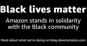 Amazon has called for an end to 'the inequitable and brutal treatment of black people'.