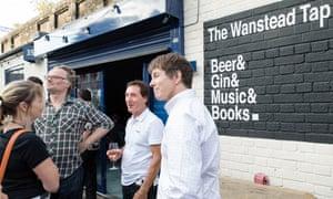 drinkers outside the Wanstead Tap pub in Wanstead