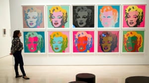 Obsessed with repetition … one of the famous Marilyn Monroe works.