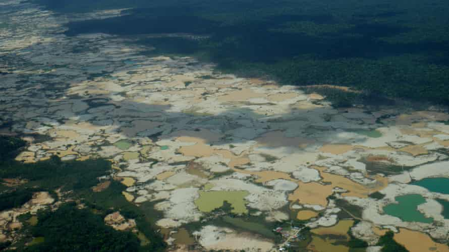 Illegal mining, settlements along the Interoceanic highway which connects Peru's Pacific ports to Brazil