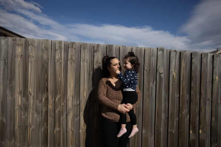 Nina Harris and her daughter Mila Pa at the family home in Schofields.