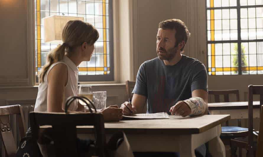 Marriage lines: Rosamund Pike and Cjris O'Dowd in the BBC series of State of the Union.